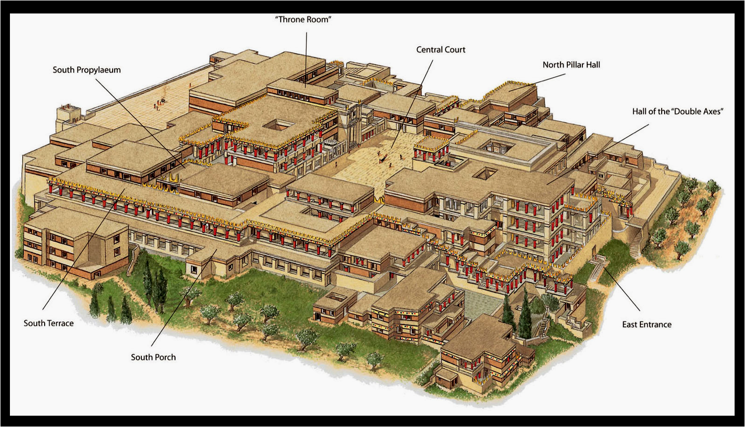 Knossos Palace Map